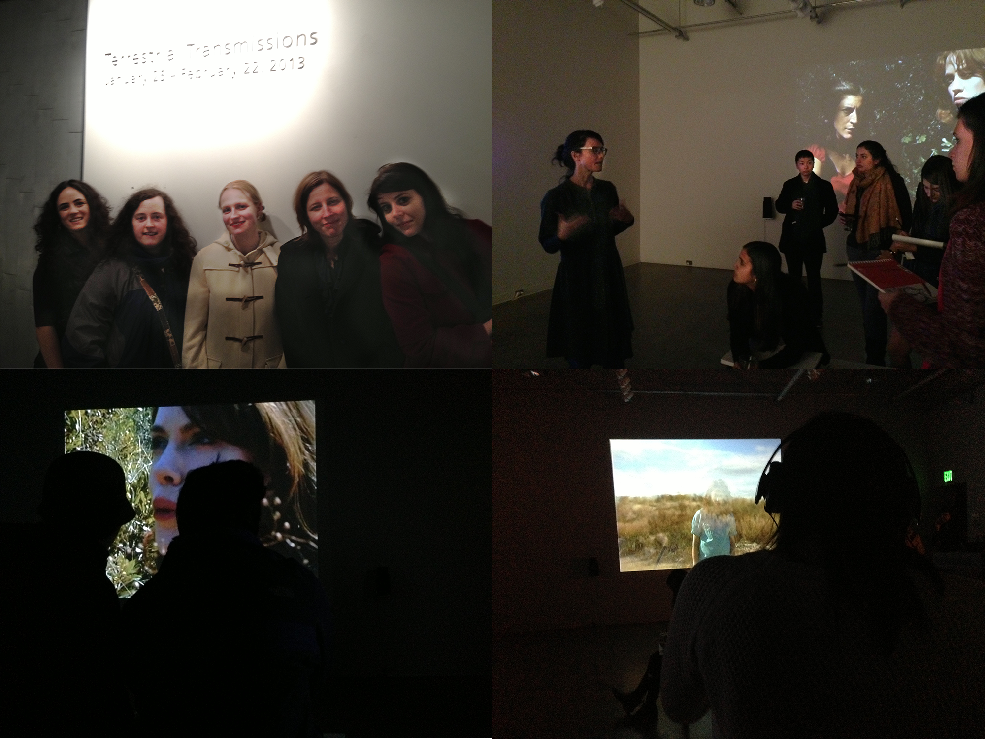 Collage of images from the Terrestrial Transmission Show UVA